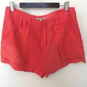 Madewell Broadway & Broome Silk Coral Shorts 0
